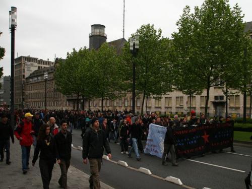 Die spontane Demonstration wuchs auf über 1000 Teilnehmer an