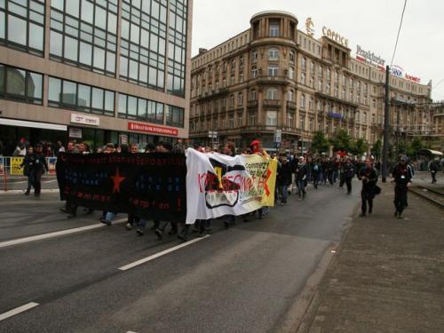 Demo vom Hauptbahnhof Richtung Messe