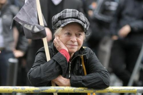 Black Block verabschiedet OB Petra Roth 2012